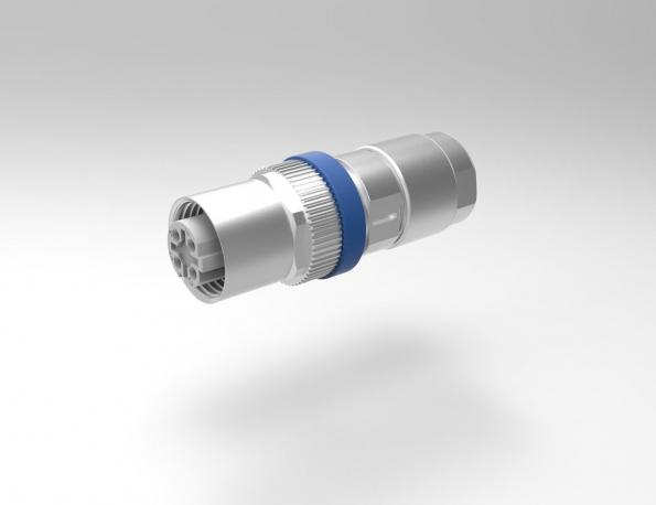 M12 cable connector is 44mm long with an outer diameter of 16/14mm