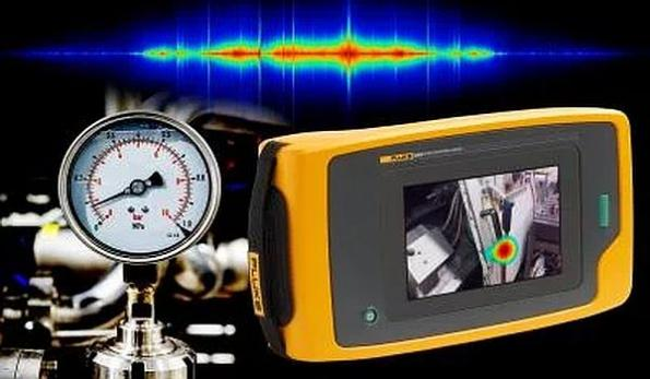Handheld sonic imager locates air leaks using sound