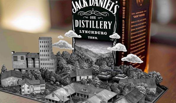 Jack Daniel's AR app turns whiskey bottles into pop-up books