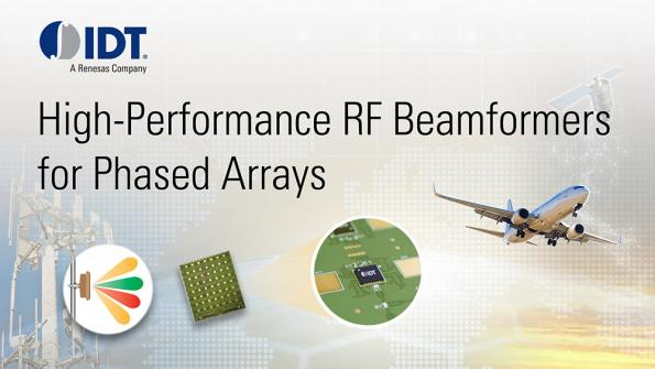 IDT RF beamforming ICs for phase array antennas
