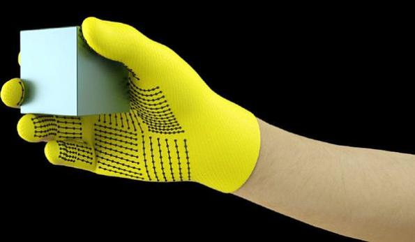 Low-cost tactile glove learns signatures of the human grasp