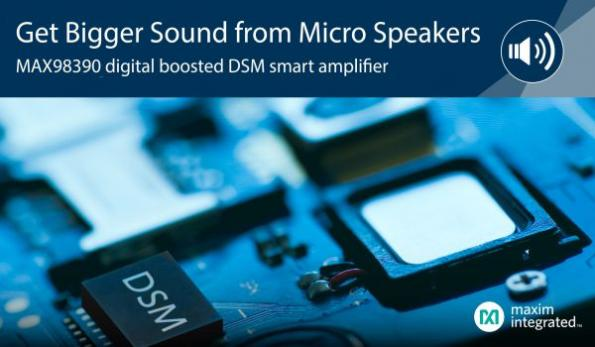 Smart amplifier maximizes micro speakers' potential