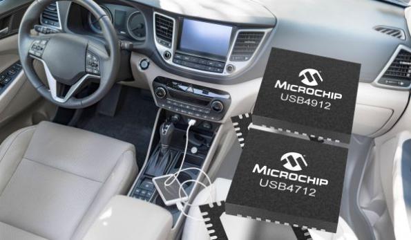 Single-port automotive USB Smart Hub ICs optimize system costs