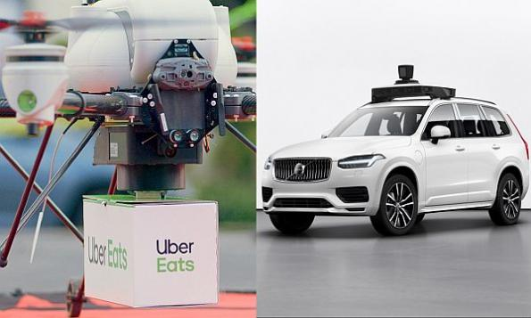 Uber unveils drone food delivery plans, new self-driving SUV