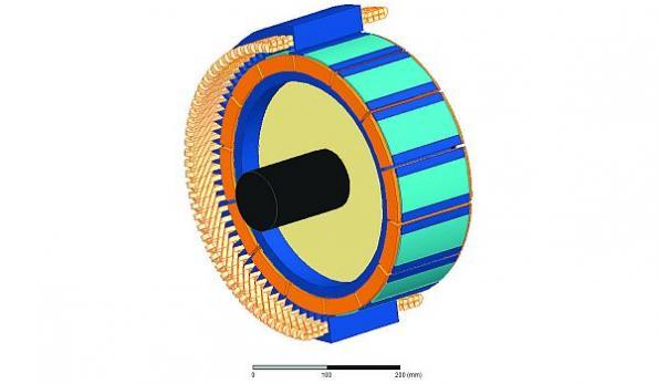 Hybrid magnet system promises smaller, more efficient generators