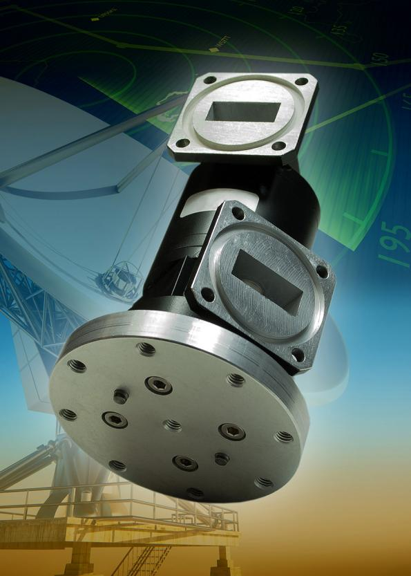 Microwave rotary joint for very-high-power satellite tracking