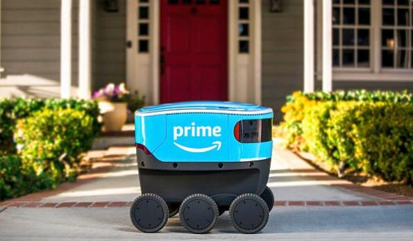 Amazon autonomous delivery robots roll out on California sidewalks