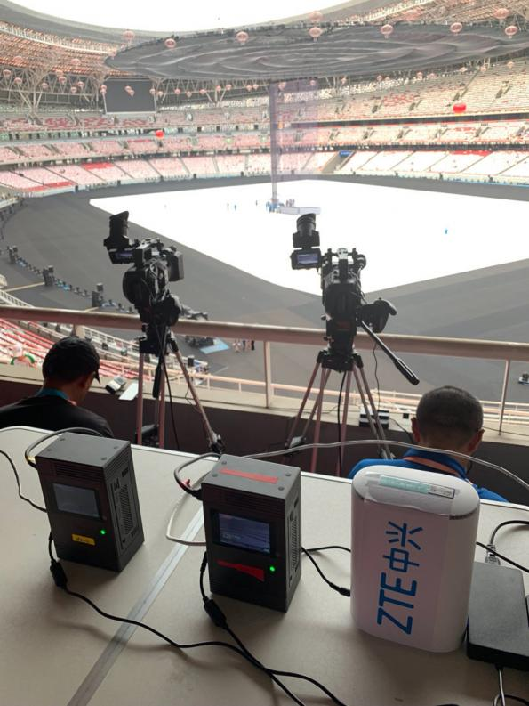 China shows off live 5G sporting events