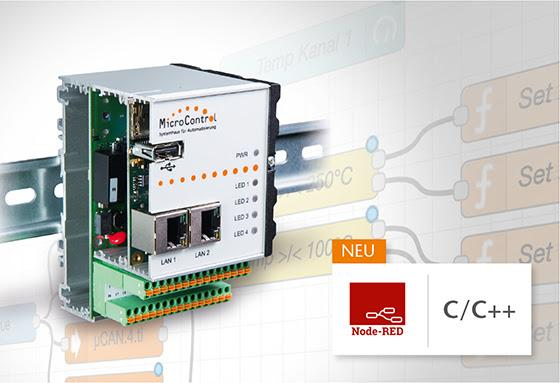 Control unit is easy to program with Node-RED or in C/C++