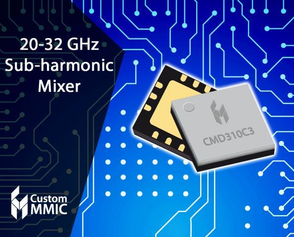 GaAs sub-harmonic mixer MMICs offer low conversion loss