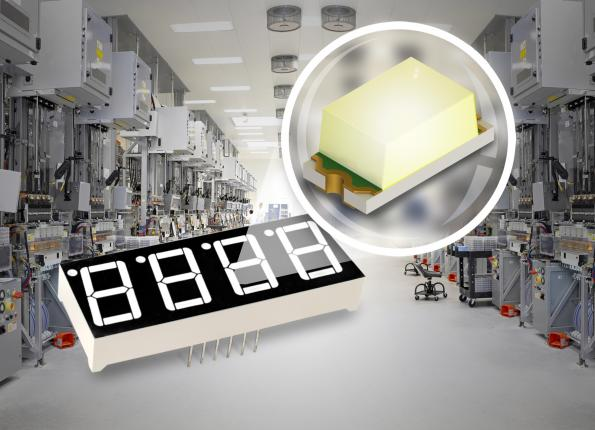 1.6x0.8mm white LED targets long-term reliability industrial displays