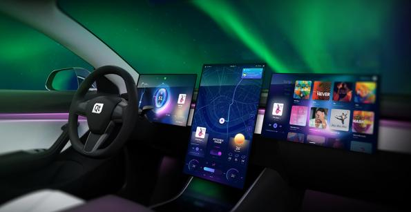 HMI designs from Qt for connected vehicles