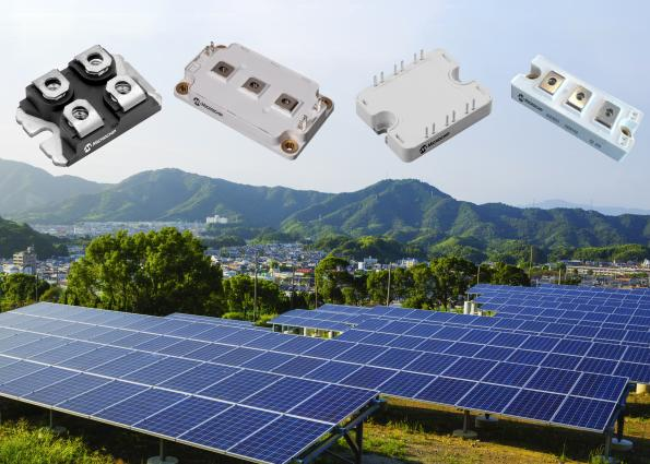 Microchip's Schottky Barrier Diode (SBD)-based silicon carbide SiC power modules come in 700, 1200 and 1700V versions.