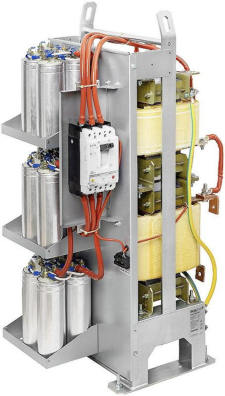 Schaffner's ecosine max passive harmonic filter series with the FN3470/71, FN3480/81, FN3472/73 and FN3482/83 has versions for 400 VAC and 480 VAC, and 50 Hz and 60 Hz networks.