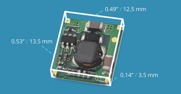CUI's VXO78-500-M surface mount switching DC-DCconverter has 95 per cent efficiency