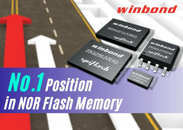 Winbond ranked as top global NOR Flash supplier