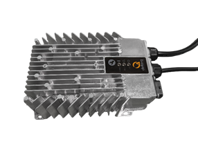 The 350W RQ350 charger from Delta-Q Technologies is aimed at electric vehicles and industrial machines.