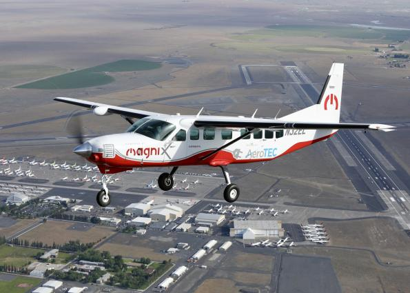 AeroTEC and MagniX in the US have flown a converted Cessna, the largest electric aircraft to date to fly using a battery system.