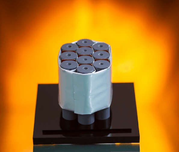 A passive propagation resistant (PPR) design from Kulr Technology prevents cell to cell thermal runaway propagation and protects batteries in space systems.