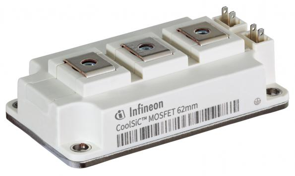 Infineon Technologies has added a 62mm industry standard package to its CoolSiC MOSFET 1200 V SiC module family.