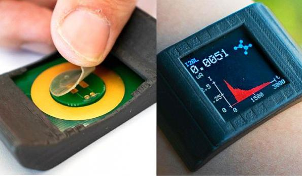 Thin sensing film makes smartwatch a biochemical monitoring system