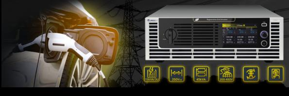 Chroma's 61809/61812/61815 AC power supplies are four quadrant, fully regenerative AC Power Sources at 3U height with power ratings of 9kVA/12kVA/15kVA for grid simulation
