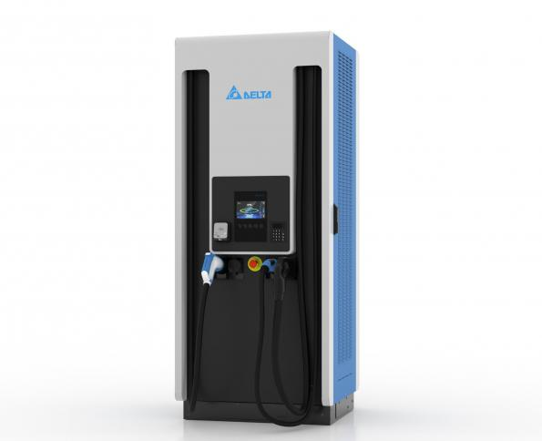 Delta's UFC2000 fast charger operates up to 200kW via a modular architecture with a 400A cable and CCS connector without liquid cooling