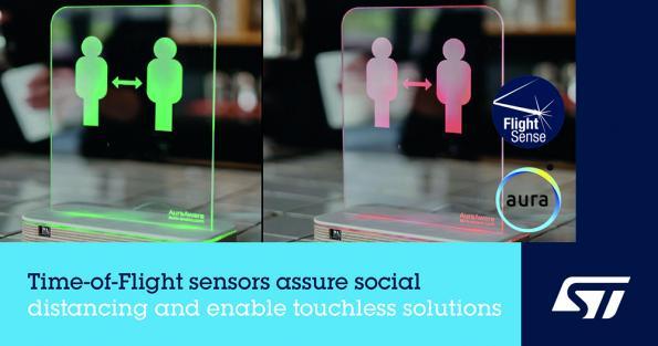 Time-of-Flight proximity sensors enable social distancing