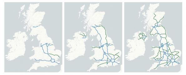 An electric road system with overhead cables is being proposed across the UK's motorways, starting with an £80m trail in Yorkshire.