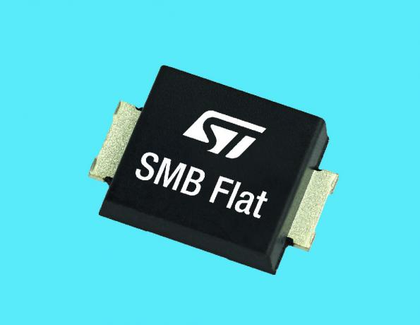 STMicroelectronics has launched 26 new Schottky diodes in low-profile SMA and SMB Flat packages, covering voltage ratings from 25 to 200V and current ratings from 1 to 5A.