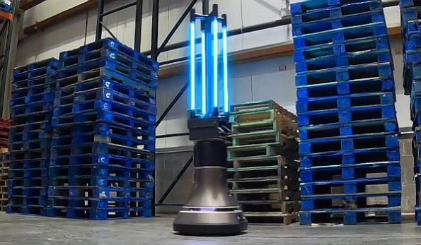 UV-C robot disinfects warehouse in half an hour