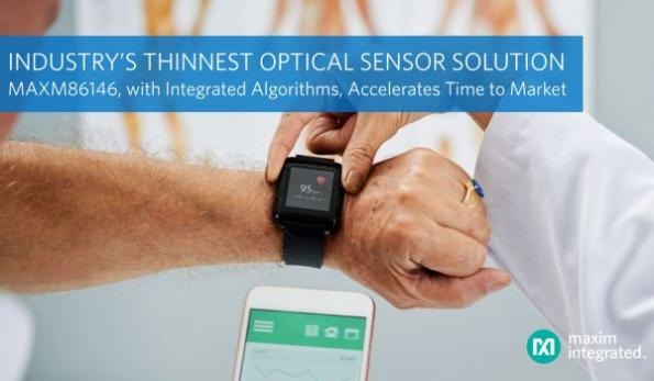 Optical sensor solution for wearables is industry's thinnest