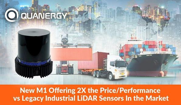 LiDAR sensor for mid- to long-range industrial measurement
