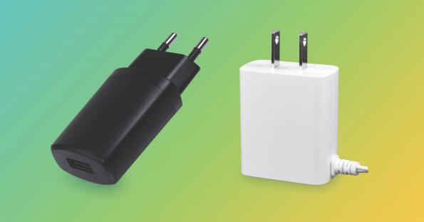 Compact 10W external adapter with USB-A option