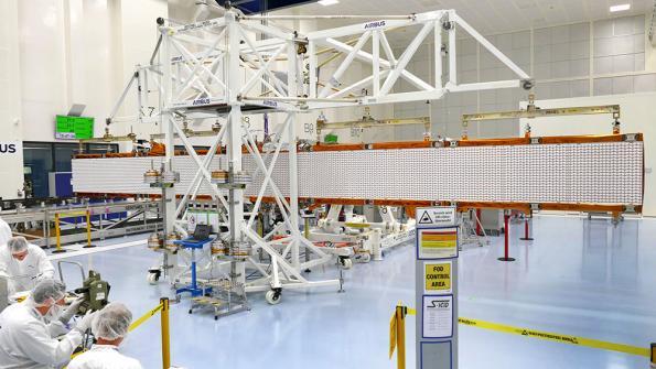 Airbus Sentinel-1C radar antenna tested for deployment