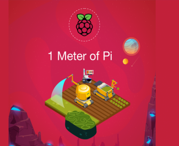 The 'One Metre of Pi' design challenge is to design a smart farm in one square metre using a Raspberry Pi 4 board and peripherals