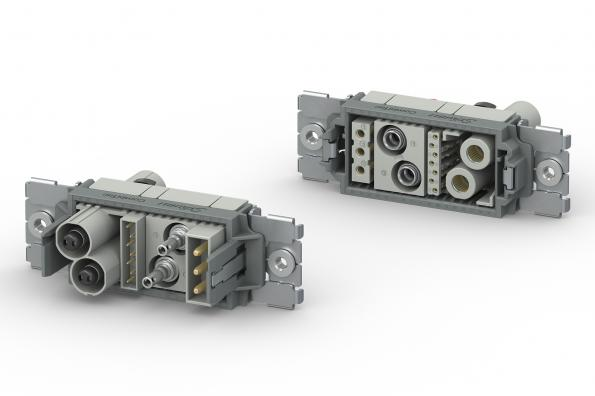 The CombiTac direqt modular connector system from Stäubli is aimed at industrial, medical and transport designs