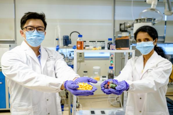 Researchers in Singapore have used orange peel waste to recover lithium from used batteries for recycling