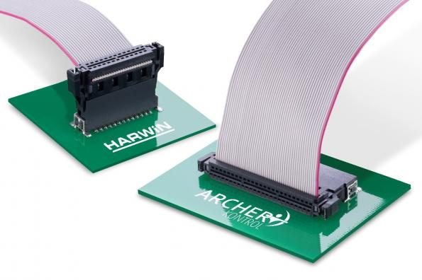 1.27mm pitch industrial connector system adds cable-to-board