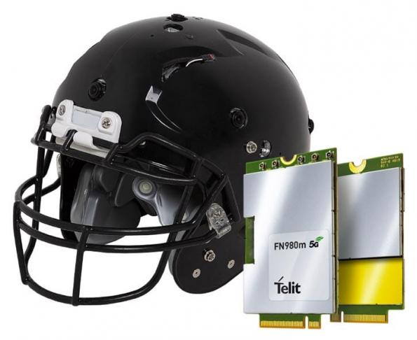 Telit 5G enables NFL fans to watch through player's helmets
