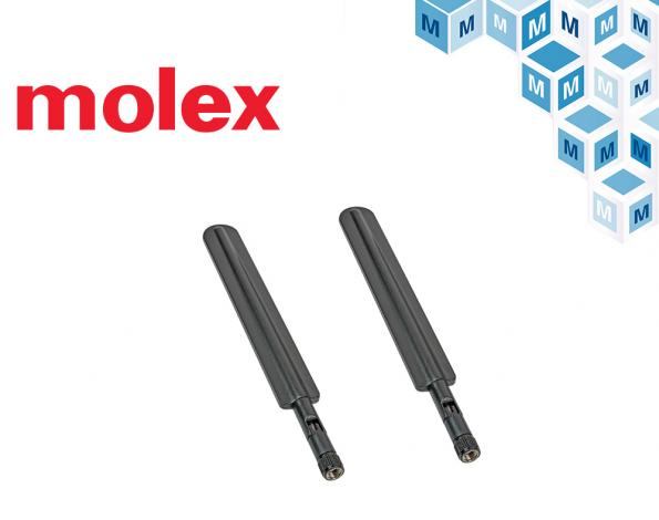 Mouser stocks Molex 5G and LTE multiprotocol antennas