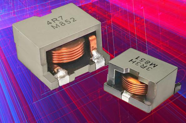 Flat wire SMD power inductors with 150°C operation