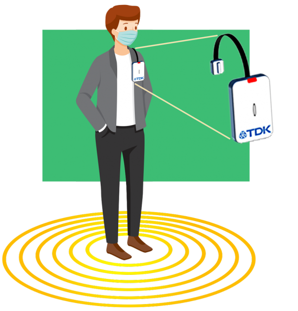 Ultrasonic ToF sensor range boost to 5m for social distancing