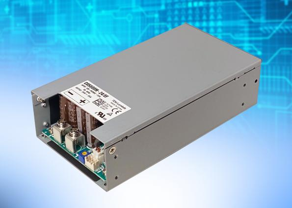 600W medical and industrial AC-DC supplies with integral fan