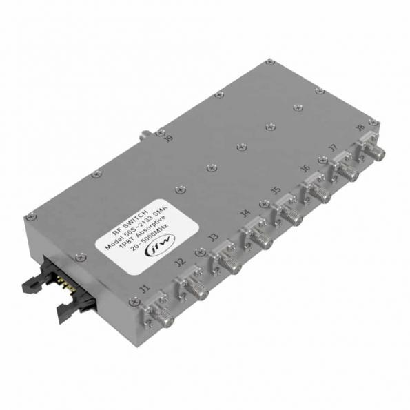 JFW 50S-2133 SMA self-terminating, commercial 1P8T RF switch