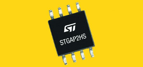 The STGAP2HS is a 1200V gate driver with 6kV galvanic isolation in an SO-8W wide package