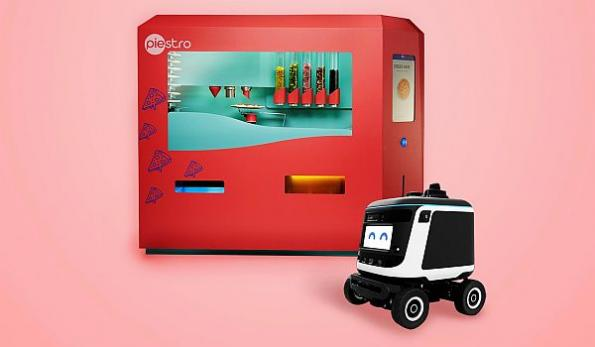 Robotic pizza making and delivery partnership