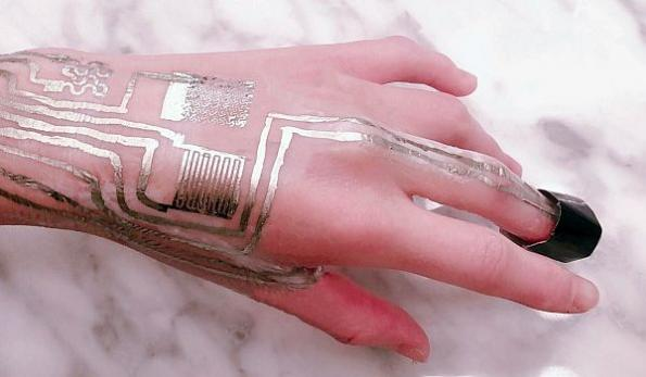 Wearable sensors print directly on skin without heat