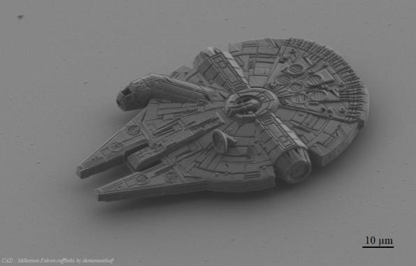 3D printed Millenium Falcon is 100 microns long
