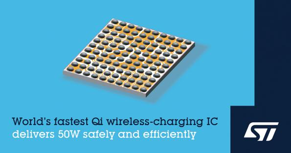 STMicroelectronics STWLC88 50-W Qi wireless-charging IC